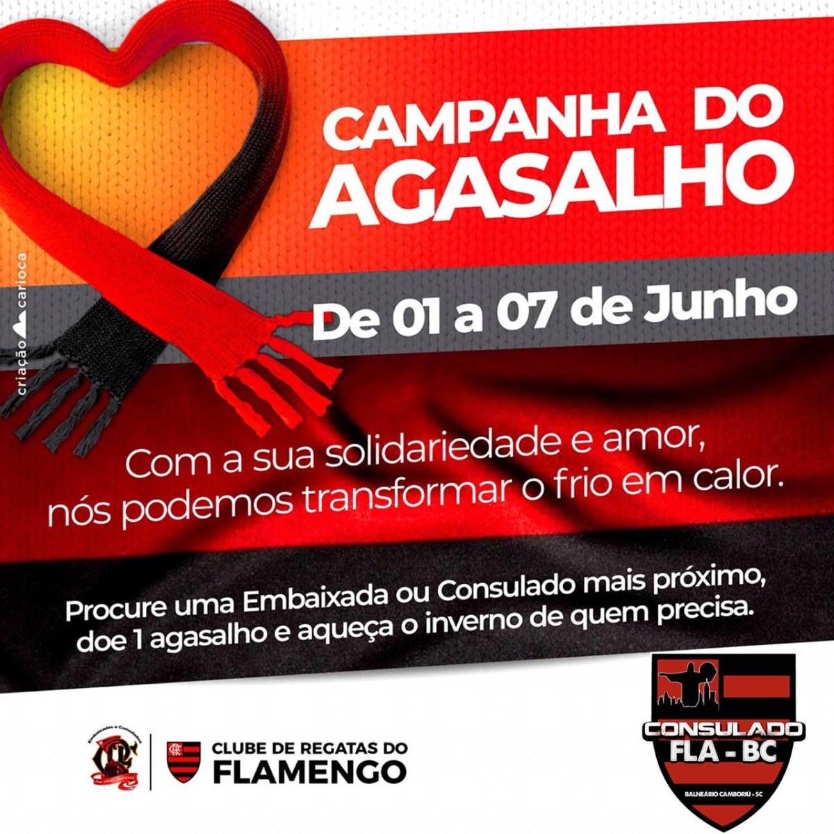 Consulado do Flamengo em Balneário Camboriú organiza ação de inverno solidário