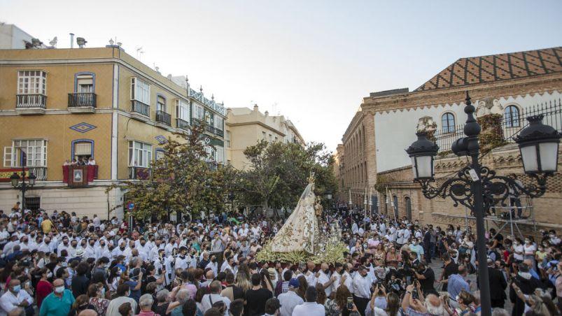 Las imágenes de la procesión de la Virgen del Rosario