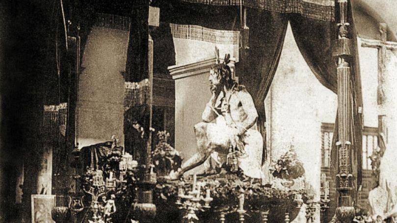 Fotografía histórica del Cristo de la Humildad y Paciencia.