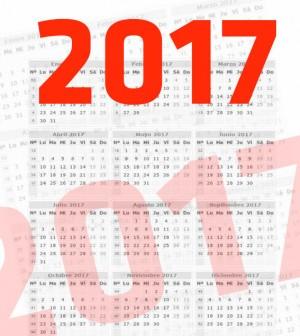 Resultado de imagen de calendario laboral 2017