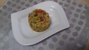 Timbal de quinoa y arroz