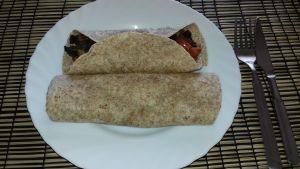 Fajitas con soja texturizada y pimientos