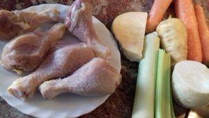 caldo de pollo reconstituyente