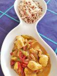 Curry de pollo con pimientos