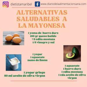 Alternativas saludables a la mayonesa
