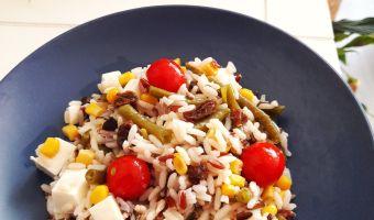 Ensalada de arroz con mucha fibra