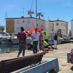 Efectivos sanitarios no han podido salvar la vida del buzo que ha fallecido en Cabo de Palos.