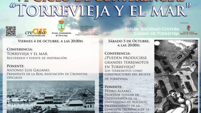CARTEL VI CICLO CONFERENCIAS TORREVIEJA Y EL MAR 2OCT2013