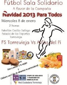El Fútbol Sala Torrevieja  juega a favor de la campaña de la Red Ciudadana Torrevieja