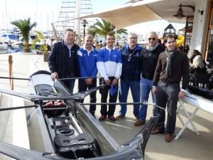 Nuevas embarcaciones de regatas para el equipo de remo olímpico