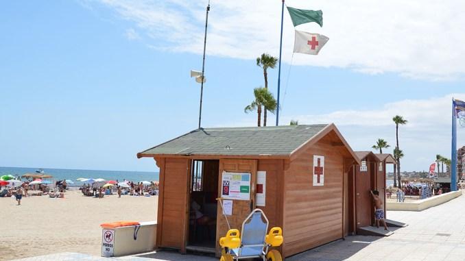 cruz roja puesto playa