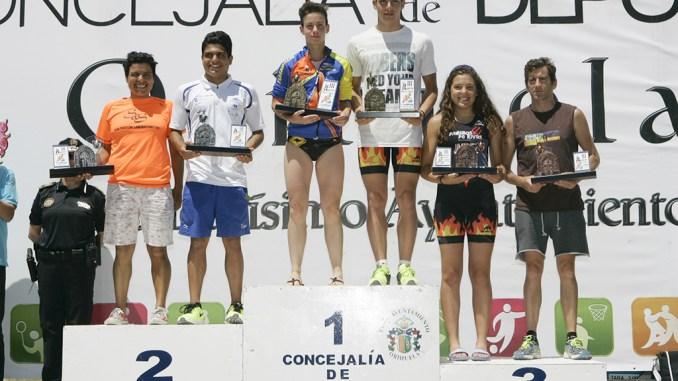 Triatlon Playas de Orihuela podio 2015