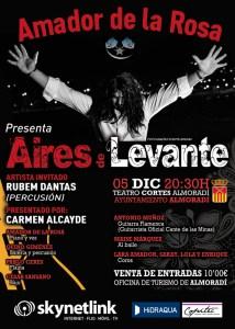 Amador de la Rosa presenta su nuevo espectáculo 'Aires de Levante' en Almoradí