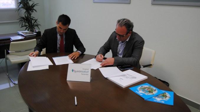 Firma convenio Quirónsalud TorreviejaMarjal