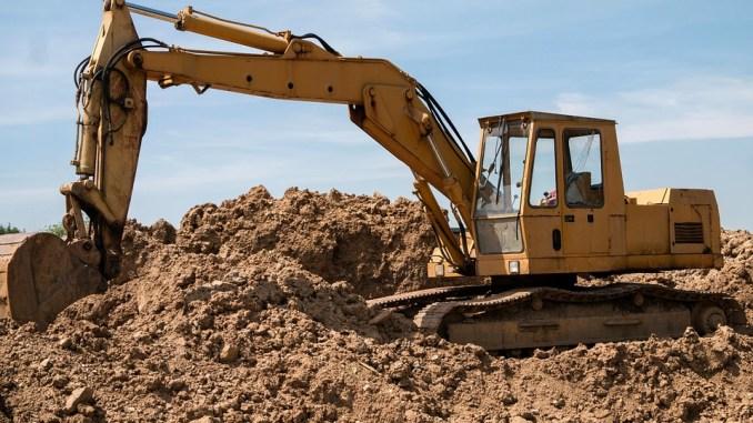 excavadora obra