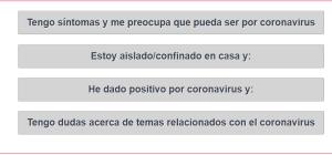 ¿Tengo Coronavirus? La Conselleria lanza un 'Autotest' para resolver dudas