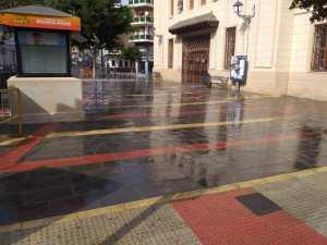 Callosa desinfecta calles, parques y espacios públicos