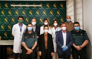 El Hospital de Torrevieja realiza test a la Guardia Civil de Torrevieja