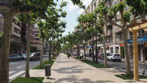 El Ayuntamiento de Orihuela peatonaliza la Avenida Teodomiro para facilitar la movilidad de los peatones