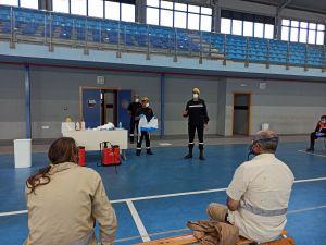 La UME imparte en Callosa un curso de formación sobre desinfección en la lucha contra el COVID