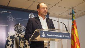 Bascuñana anuncia la creación del Consejo Cívico para la Recuperación Social y Económica de Orihuela