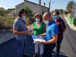 Visita a las obras de mejora de los viales dañado por la DANA en Almoradí
