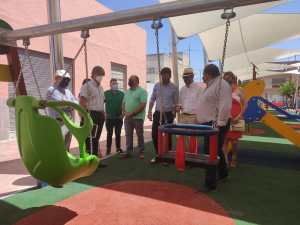 Finalizan las obras de reurbanización y adecuación de la Plaza de la Cruz de la pedanía de San Bartolomé