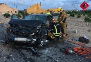 Un accidente de tráfico deja dos heridos en Benijofar