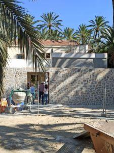 Las obras de rehabilitación, puesta en valor y conservación del Palmeral afrontan su recta final