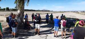 Una treintena de personas participan en la tercera ruta ecoturística de San Fulgencio