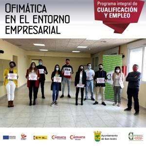 El Programa PICE promovido por la Cámara de Alicante y Convega forma a jóvenes desempleados de San Isidro en Ofimática