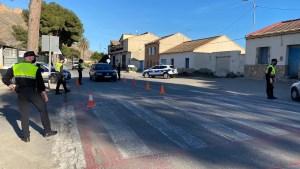 Primeros controles policiales del confinamiento perimetral de Orihuela