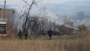Un incendio calcina matorral en la parcela situada alrededor de la antigua fábrica de Son Sánchez
