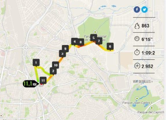 Running: Entrenamiento 19 de octubre