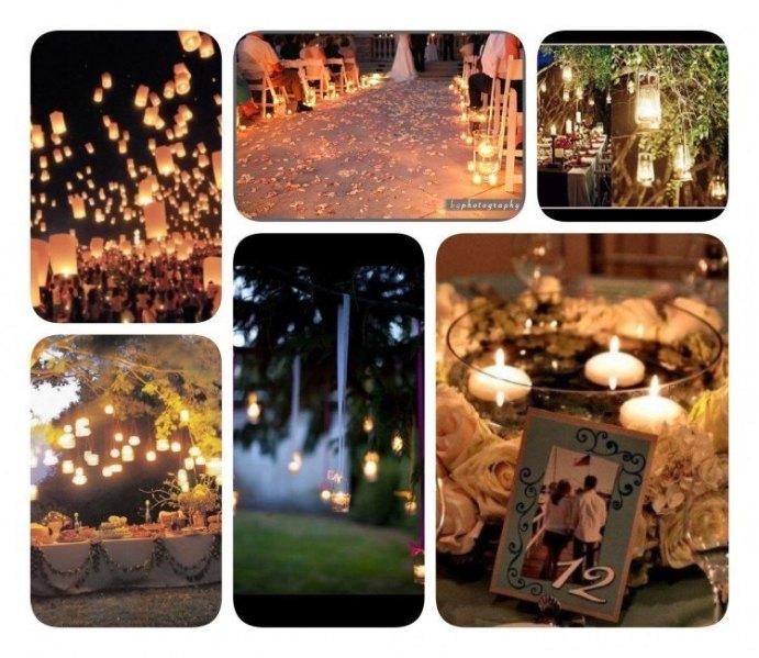 Velas para iluminar boda