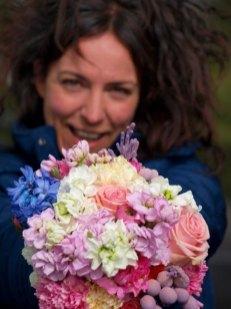 Ramo Vintage flores en el columpio