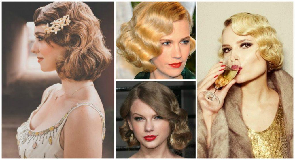 Peinados con ondas vintage