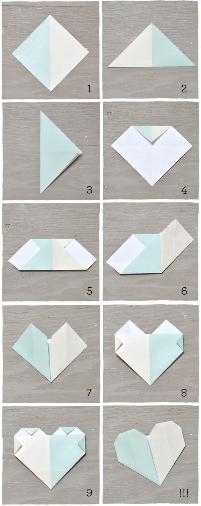 tarjetas de origami