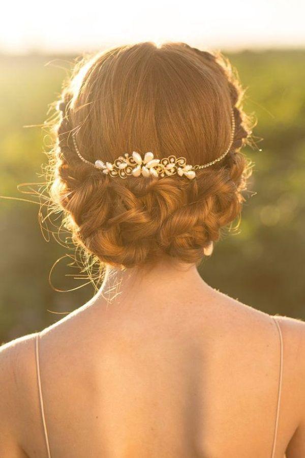 tocado de novia con perlas