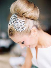 tocado de novia peine con cristales