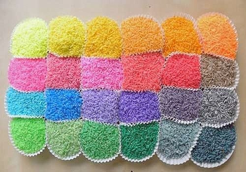 como teñir el arroz