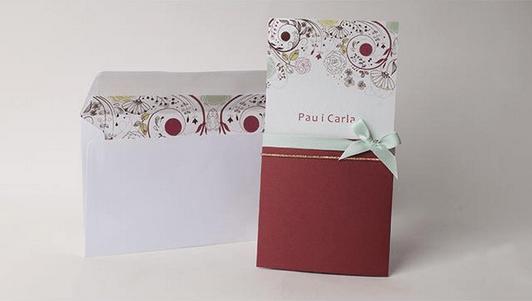 invitaciones de boda baratas en rojo