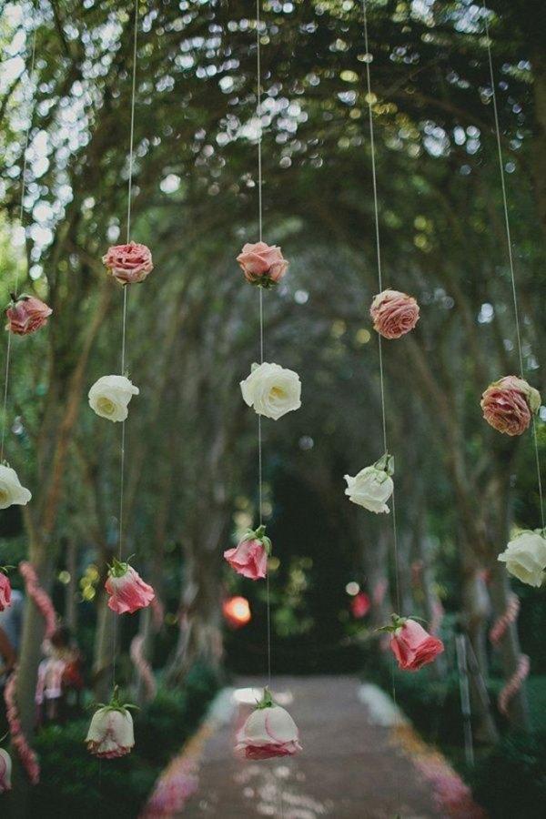 guirnalda de flores artificiales colgantes
