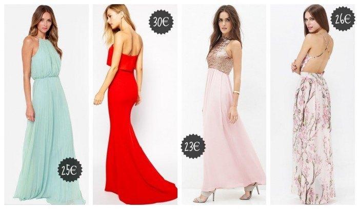 Vestidos largos para bodas baratos