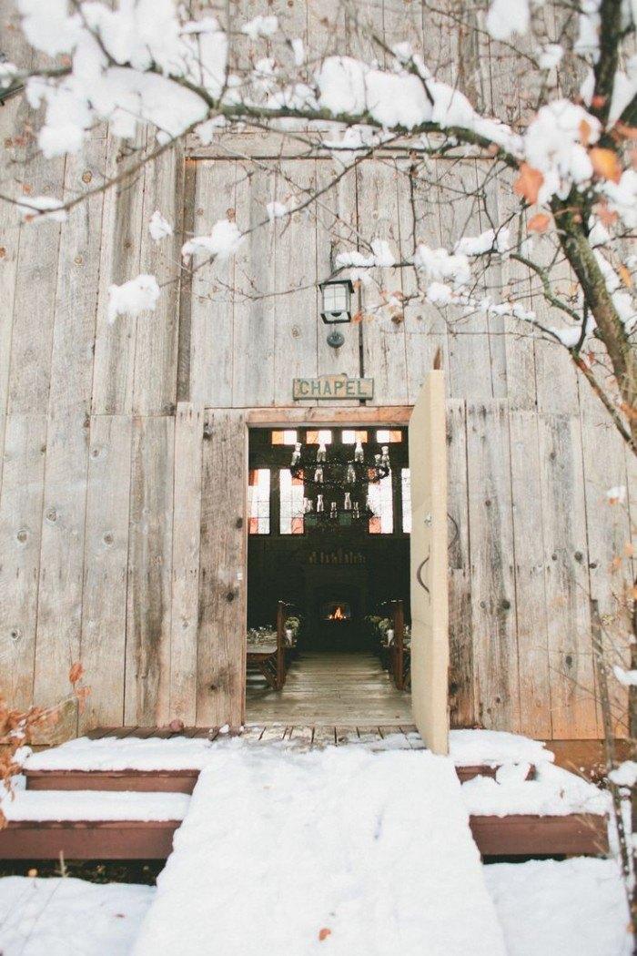 Boda en la Nieve entrada ceremonia