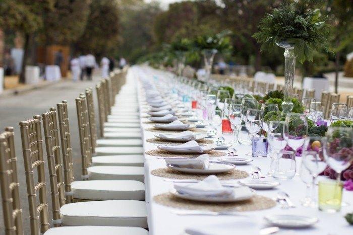 Catering Hindu Abades mesa imperial