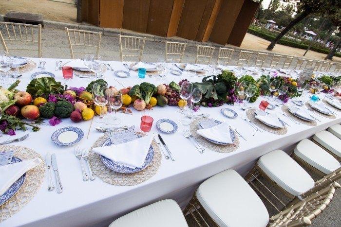 Catering Hindú Abades decoracion mesa