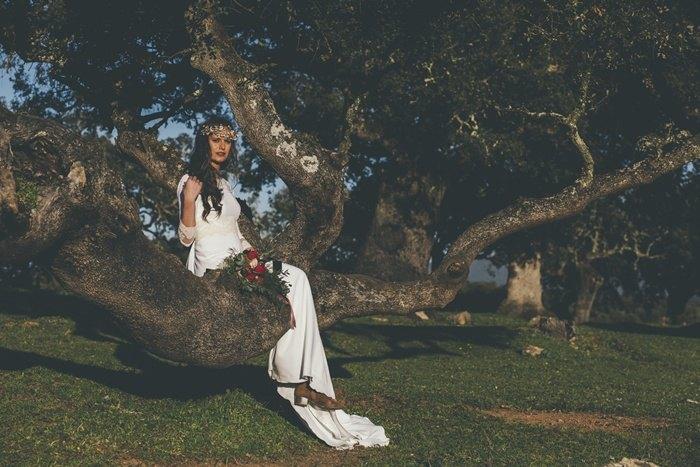 Look de novia campestre - Editorial la novia de la Dehesa