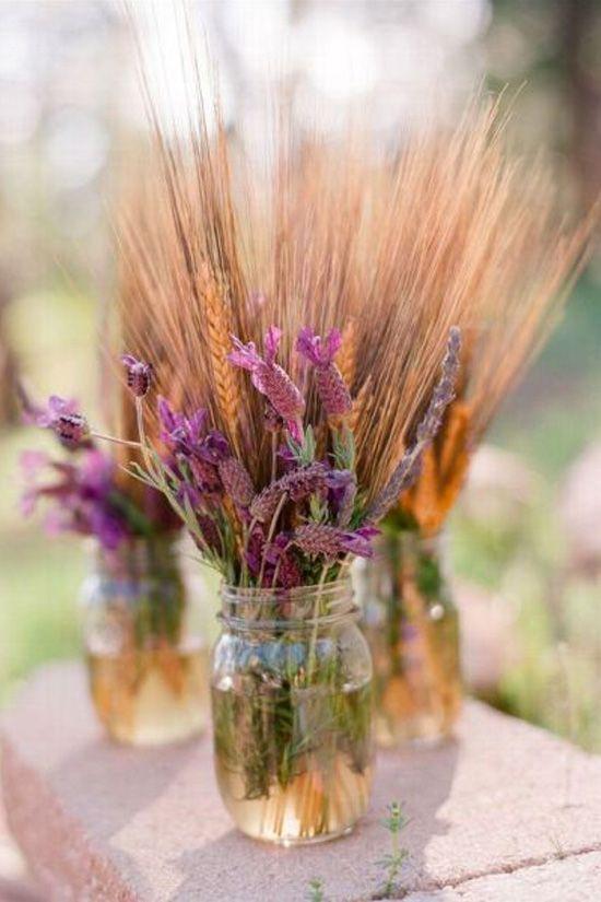 decoración de bodas rusticas trigo - Ideas para la Decoración de Bodas Rústicas