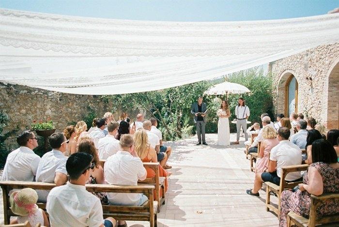 Boda Bohemia en Sitges Ceremonia
